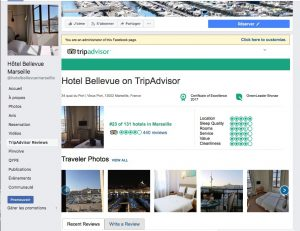 Découvrez les commentaires Trip advisor au sujet de l'hôtel Bellevue