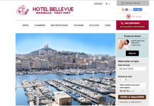 Découvrez le site Internet de l'hotel Belle Vue